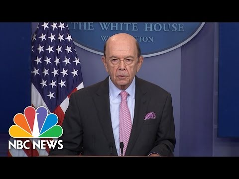 Commerce Secy. Wilbur Ross Announces New Tariff On Canadian Lumber | NBC News