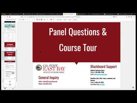 Faculty Panel: Tips for Revising Your Online Courses for Semester