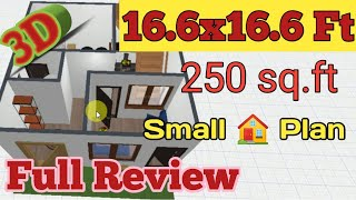 250 Sq Ft House Design | 16 X 16 Tiny House Floor Plans | 16x16 Tiny House Urdu&hindi