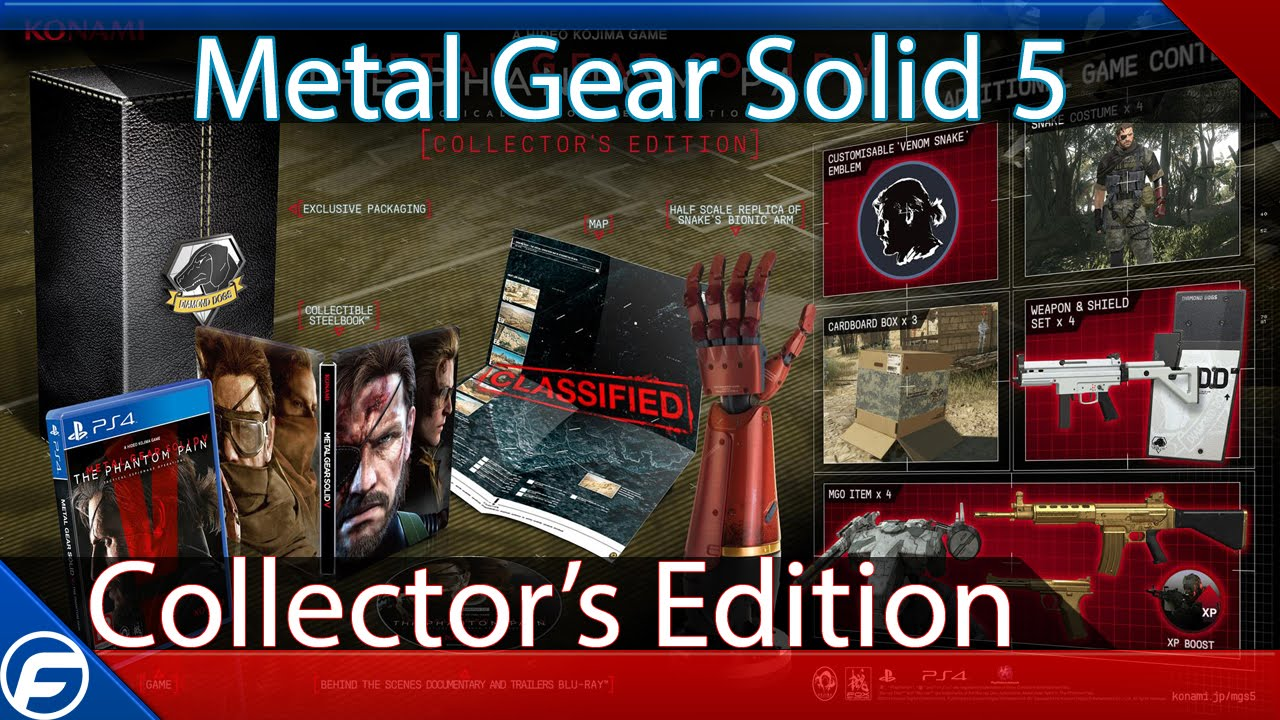 Mgs v the phantom pain collector's edition(bluray iso).