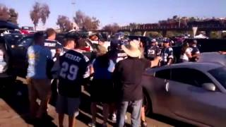 San Diego Chargers Fans Vs Dallas Cowboys Fans After Game