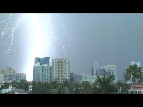 Thunderstorm Timelapses & Lightning- Fort Lauderdale, FL July 2014