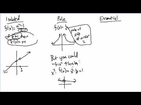 Complex Analysis:  Description of Singularities