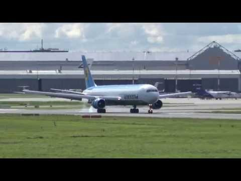 Hard Landing | Uzbekistan Airways Cargo B767F [UK-67002] @ Hamburg Airport