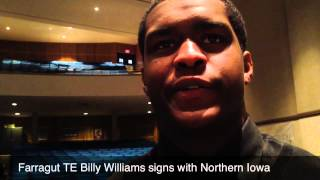Farragut TE Billy Williams on National Signing Day