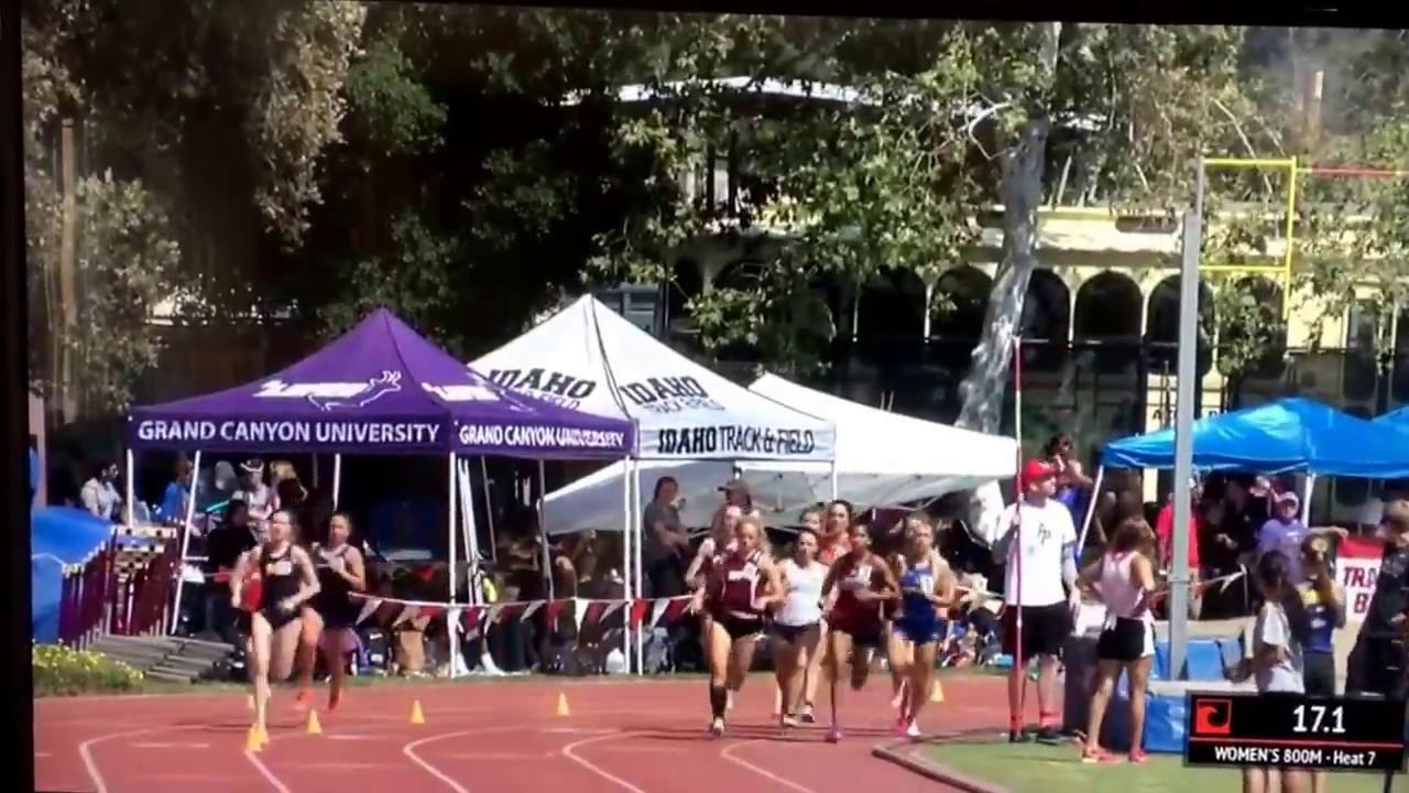 2017 Bryan Clay Invitational @ Azusa Pacific Girls 800m dash finals - Morgan 2:13.55