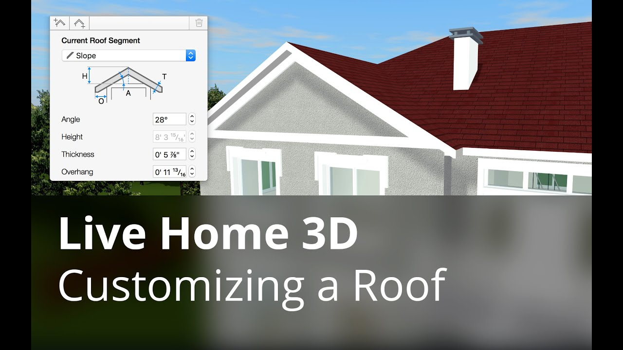 Customizing A Roof Live Home 3d Pro For Mac Tutorials Youtube