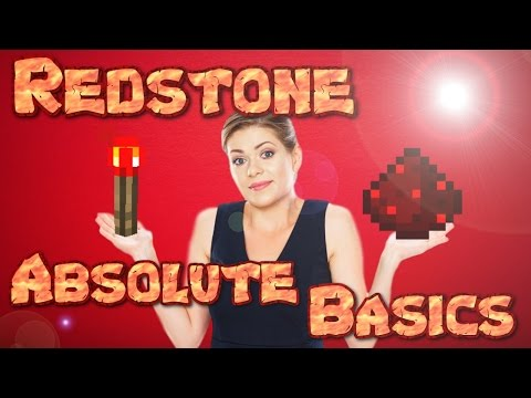 MINECRAFT REDSTONE  - THE BASICS | How To Use Redstone | Basic Redstone Tutorial