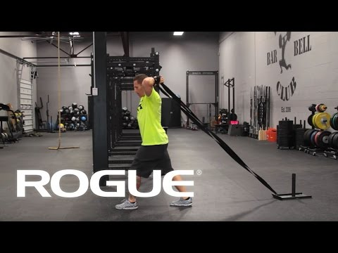 Equipment demo sled drag variations rogue fitness youtube