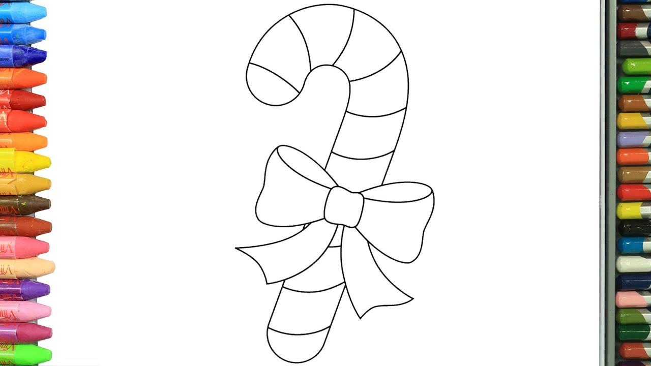 Wie Zeichnet Man Weihnachten Süßigkeiten Zeichnen Und Ausmalen Für Kinder