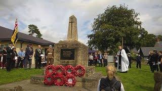 2017 Passchendaele Remembrance Service in Wincanton