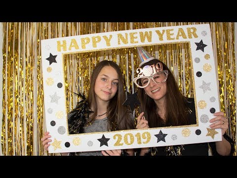 Diy New Year S Eve Photo Booth Picture Frame Youtube
