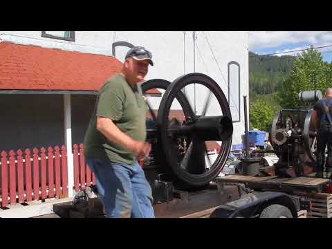 Old engines on show in Kaslo, BC