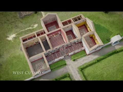 Brading Roman Villa, 3D Video.