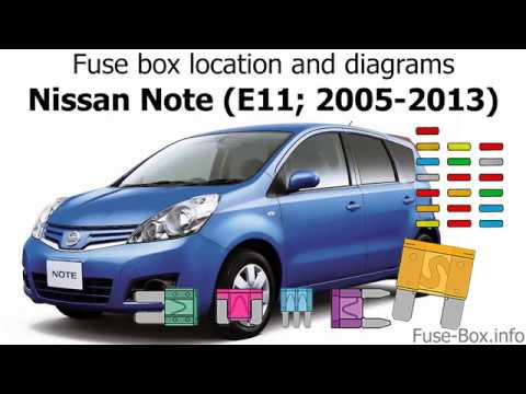 Fuse box location and diagrams: Nissan Note (2005-2013 ...