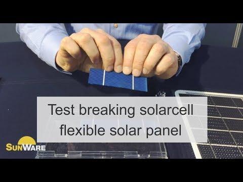Breakage test solarcell flexible solar panel