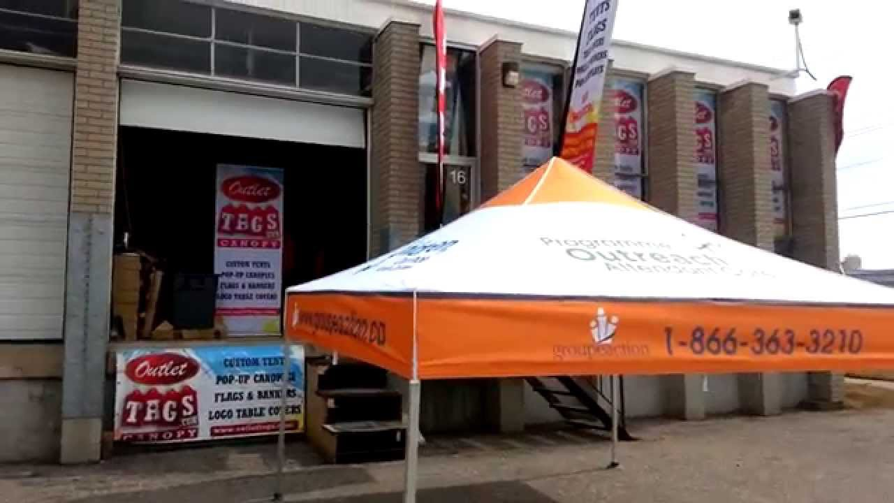 Festival Marketing 10x10 Easy Up Pop-Up Shelter by Outlet Tags Canopies & Festival Marketing 10x10 Easy Up Pop-Up Shelter by Outlet Tags ...