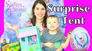 giant frozen surprise tent play doh kinder eggs elsa disney princess shopkins fashems mlp lps barbie