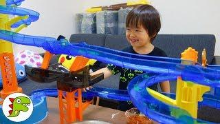 巨大流しそうめん機でそうめん食べたよ❤ビッグストリーム そうめんスライダー エクストラジャンボ 料理 キッチン Toy Kids トイキッズ thumbnail