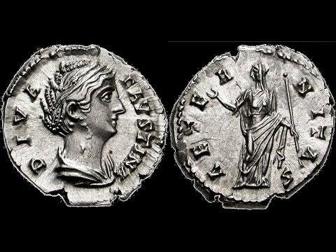 🔝 Денарий, 146 - 161 гг., Монета, Римская Империя, АНТОНИН ПИЙ, 🌍 Denarius, 146 - 161 AD ✅