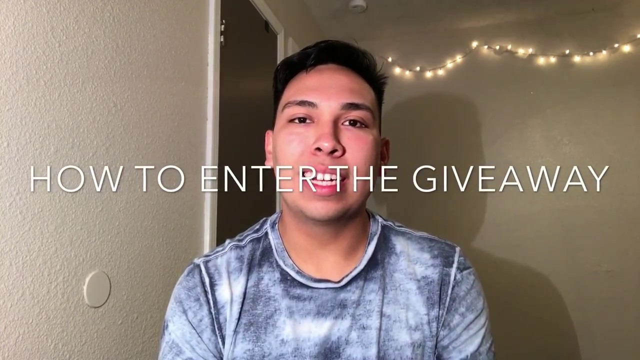 how to enter a giveaway on youtube