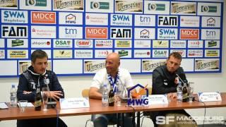 Pressekonferenz - 1. FC Magdeburg gegen FC Augsburg 1:0 (0:0) - www.sportfotos-md.de