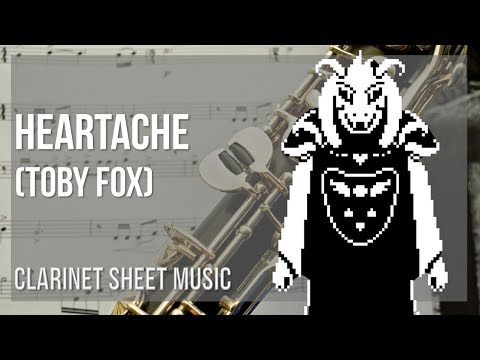 EASY Clarinet Sheet Music: How to play Heartache by Toby Fox