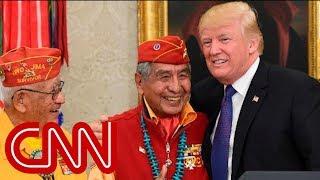 Trump makes Pocahontas crack at Navajo code talkers event