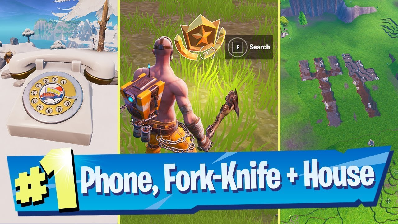 Search between a Rotary Phone, Fork-Knife and Hilltop House full of Carbide  Omega posters - Fortnite