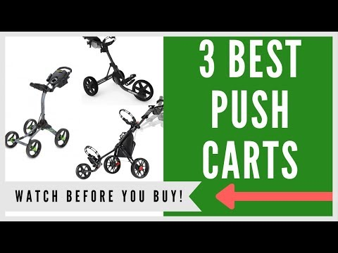 ✅ Best Push Carts For Golf -- Top 3
