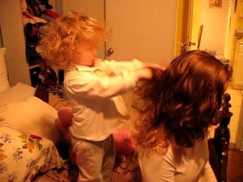 Finn and a hairbrush.