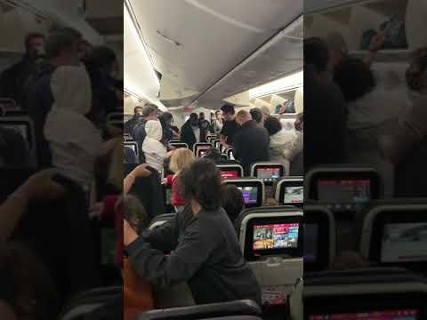 Fight on Turkish Airways Flight from Houston to Istanbul
