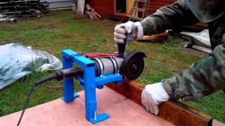 Простой станок для болгарки(Простое приспособление (станок) для крепления болгарки (УШМ) для резки металла., 2015-06-20T15:14:45.000Z)