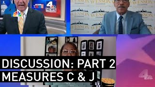 Herb Wesson and Holly Mitchell Debate: Part 2: Measure C & Measure J | NewsConference | NBCLA