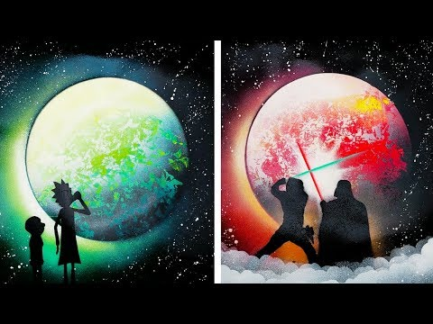 17 DIY PAINTINGS IDEAS THAT ARE OUT OF THIS WORLD