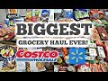 BIGGEST GROCERY HAUL EVER W/ PRICES! | STOCKING UP ON SALES & STOCKING THE PANTRY | COSTCO & WALMART