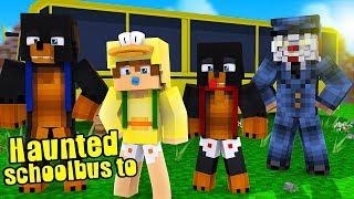 HAUNTED SCHOOL BUS TO ... I.T. HAUNTED SCHOOL!! Baby Duck Minecraft Adventures