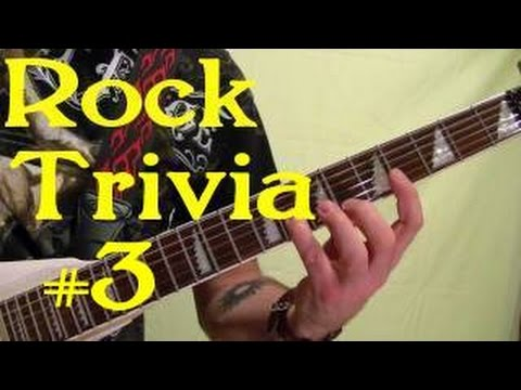 ROCK GUITAR TRIVIA #3 of 3 - Name All 15 Songs ( by ...