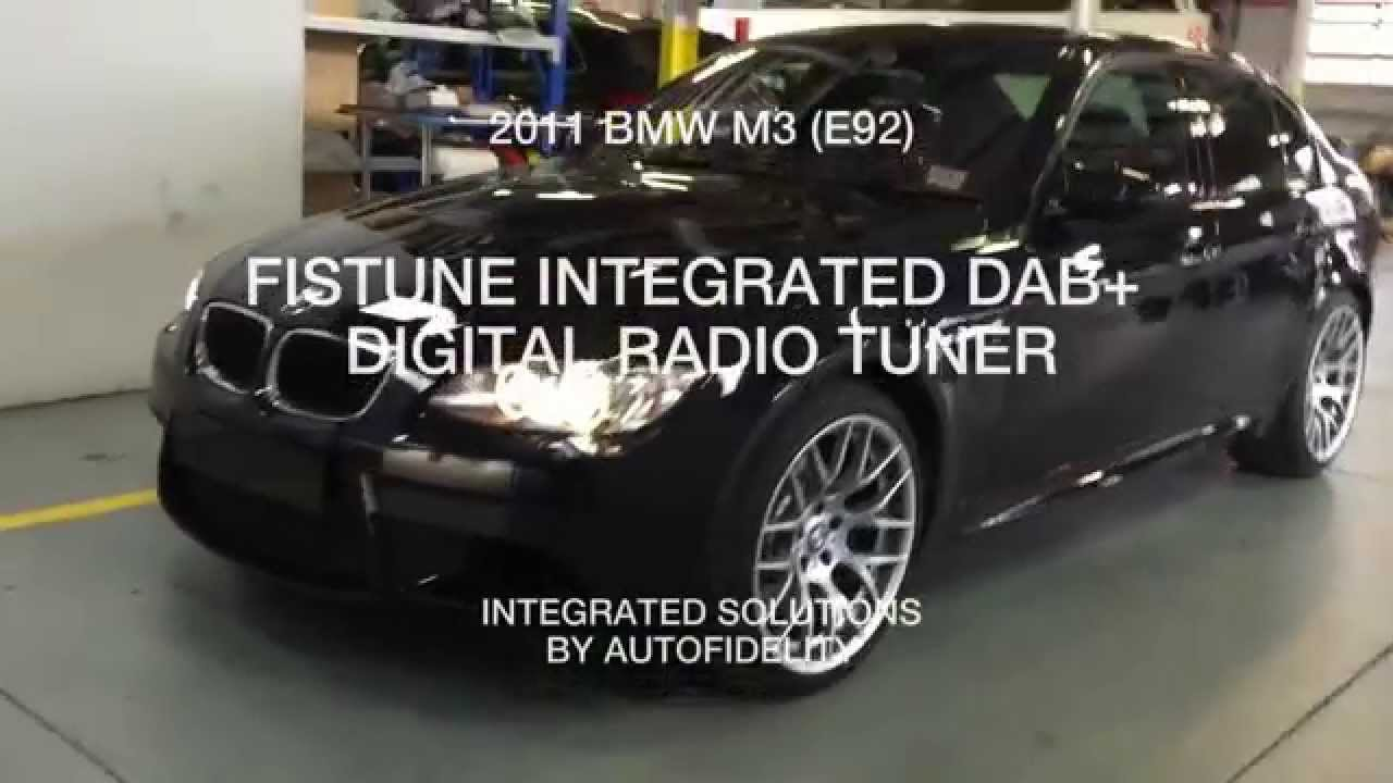 2011 bmw m3 e92 fistune integrated dab digital radio. Black Bedroom Furniture Sets. Home Design Ideas