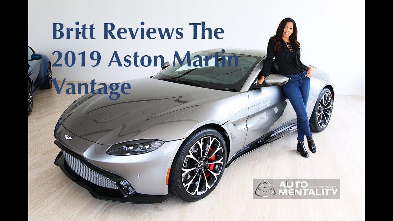 First Look At The 2019 Aston Martin Vantage With Britt Waters. Auto  Mentality