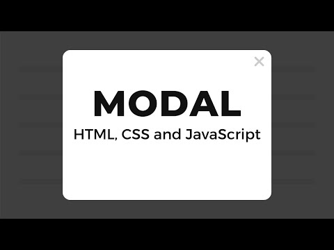 Modal With HTML, CSS And JavaScript
