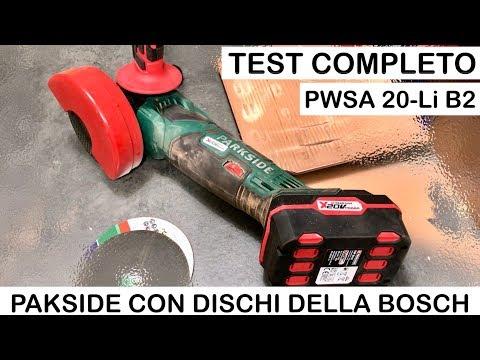 275bd2d05d283 Smerigliatrice angolare PARKSIDE a Batteria PWSA 20-Li B2 con DISCHI BOSCH.  - YouTube