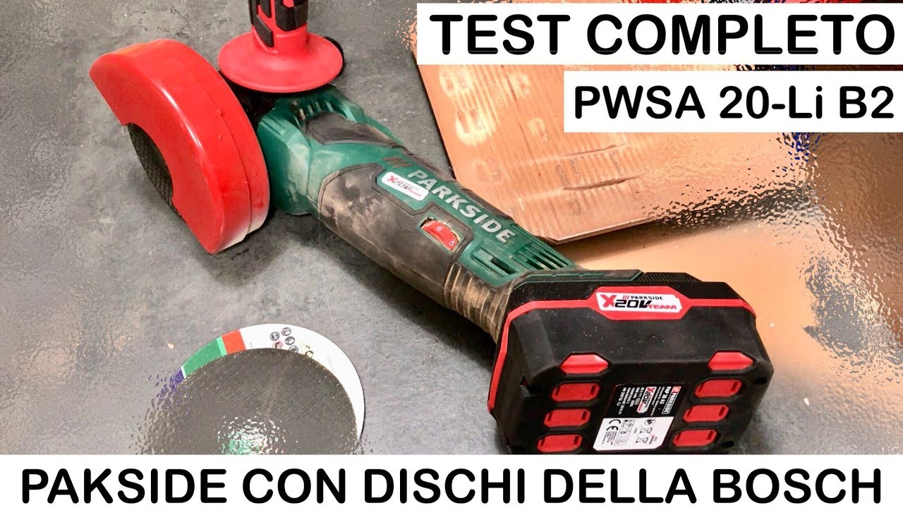 963e686eb664a Definitive REVIEW Battery-powered Parkside angle grinder with BOSCH DISKS. PWSA  20-Li B2.