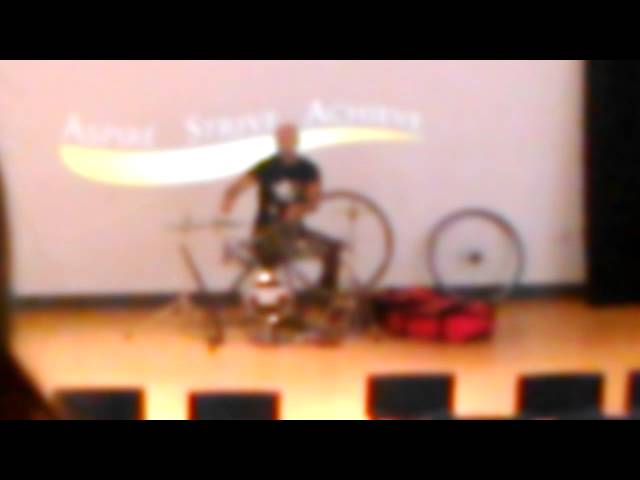 Awesome old man does the drums good