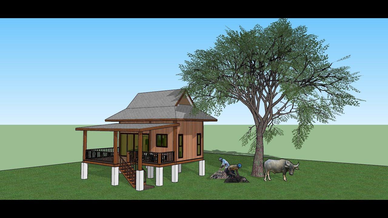 แบบบ้านสวนหลังน้อยเอาไว้อยู่ตอนบั้นปลายของชีวิต (Home plan 4 style ep.1 small house)