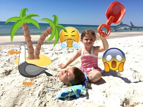 Download Youtube: Bad Baby Gia BURIES Brother Fail Gav ALIVE At BEACH!! CrAZy PRANK!