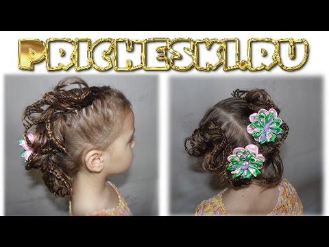 Плетение кос.Плетение волос.Сердце Красивая причёска на средние/длинные волосы