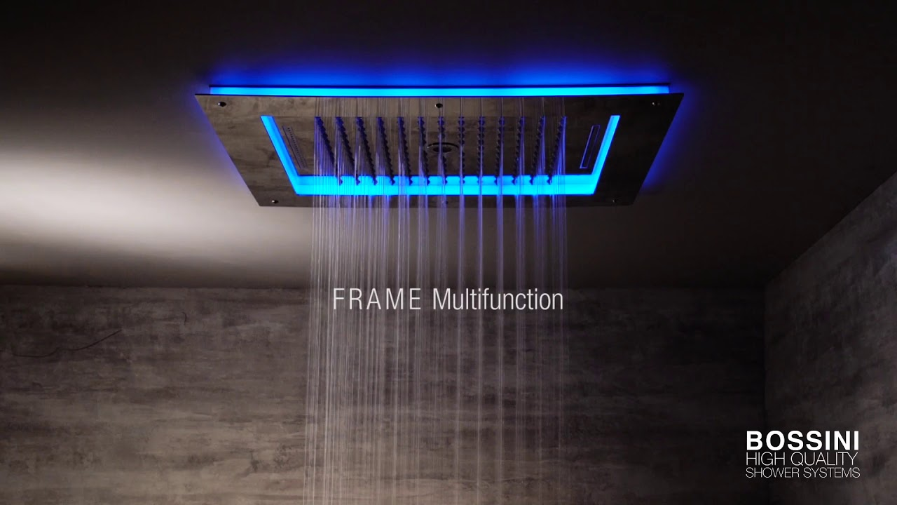 Luci Led Per Cromoterapia frame shower head with chromotherapy - bossini shower systems