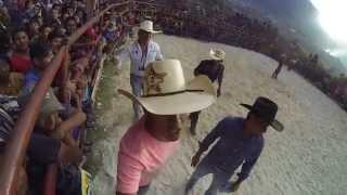 Santa Maria de Jesus, Guatemala--rodeo, bull riding, crowd, volcano! 3332 010315 danielphotocom