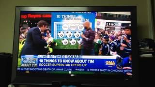 Tim Howard on the news goalie for New York Knicks #soccer